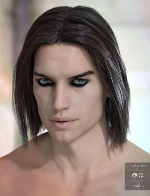 Kieron Hair for Genesis 3 & 8 Male(s)