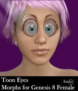 Toon Eyes Morphs for Genesis 8 Female