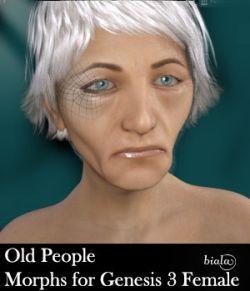 Old People Morphs For Genesis 3 Female