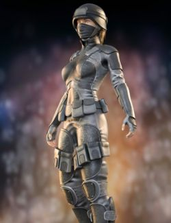 Sci-Fi Soldier Outfit for Genesis 8 Female(s)