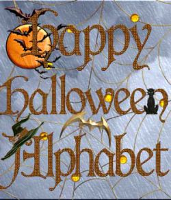 Harvest Moons Happy Halloween Alphabet