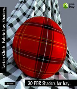 30 Tartan Fabric PBR Iray Shaders for Daz Studio