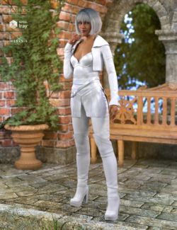 White Fox Outfit for Genesis 8 Female(s)