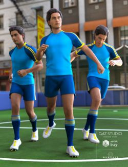 Football Poses for Genesis 3 Male