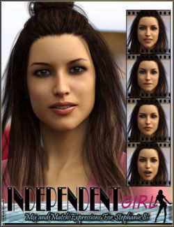 Independent Girl Mix and Match Expressions for Stephanie 8 and Genesis 8 Female(s)