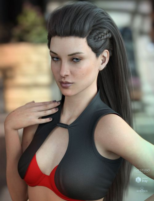 Xelene Hair for Genesis 3 & 8 Female(s)