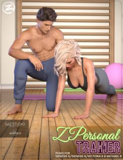 Z Personal Trainer- Poses for Genesis 3 and 8