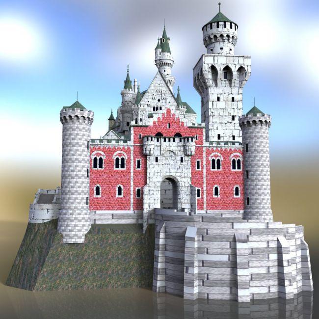 Neuschwanstein Castle - for DAZ Studio | Architecture for