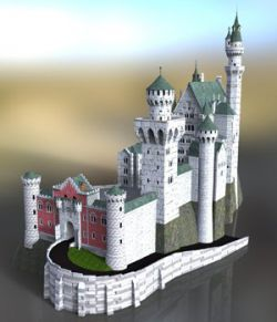 Neuschwanstein Castle- for DAZ Studio