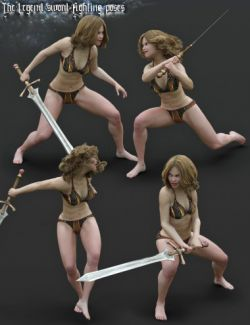 The Legend Sword- Fighting Poses for Genesis 3 and 8 Female