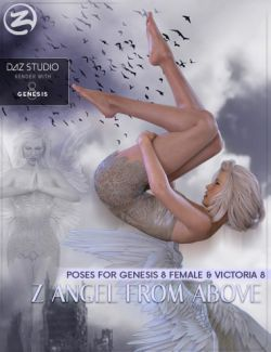 Z Angel From Above - Poses for Genesis 8 Female & Victoria 8