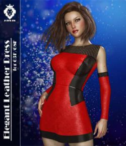JMR Elegant Leather Dress for G3F and G8F