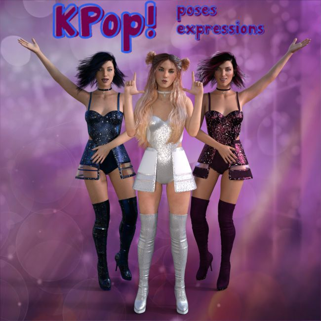 KPop Poses I for G8F