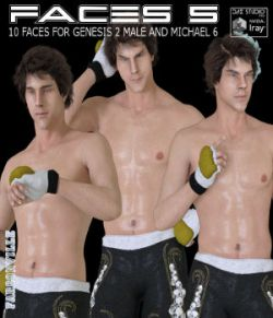 Faces 5 for Genesis 2 Male and Michael 6