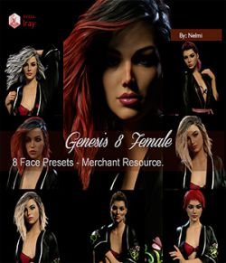 8 Preset Faces for Genesis 8 Female - Merchant Resource