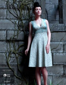 Peppermint Ivy Dress for Genesis 8 Female(s)