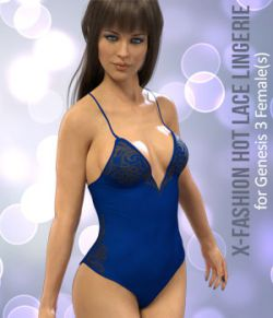 X-Fashion Lace Bodysuit for Genesis 8 Females