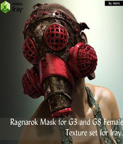 Ragnarok Mask for G3 and G8 Female Texture Set