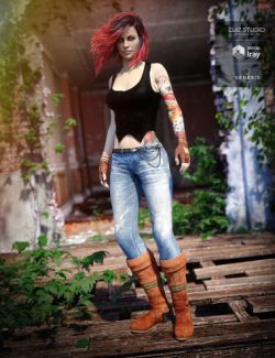 Urban Action Outfit for Genesis 8 Female(s)
