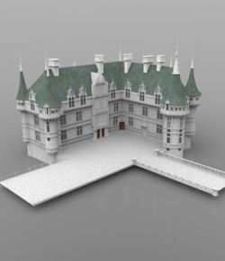 Chateaux Azay le Rideau (for DAZ Studio)