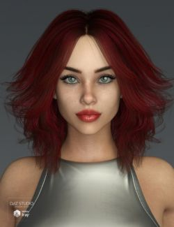Riona Hair for Genesis 3 and 8 Female(s)