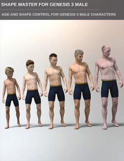 Easy Shape Master - Age Control and Body Tuning for Genesis 3 Male