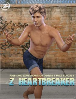Z Heartbreaker - Poses and Expressions for Genesis 8 Male(s)
