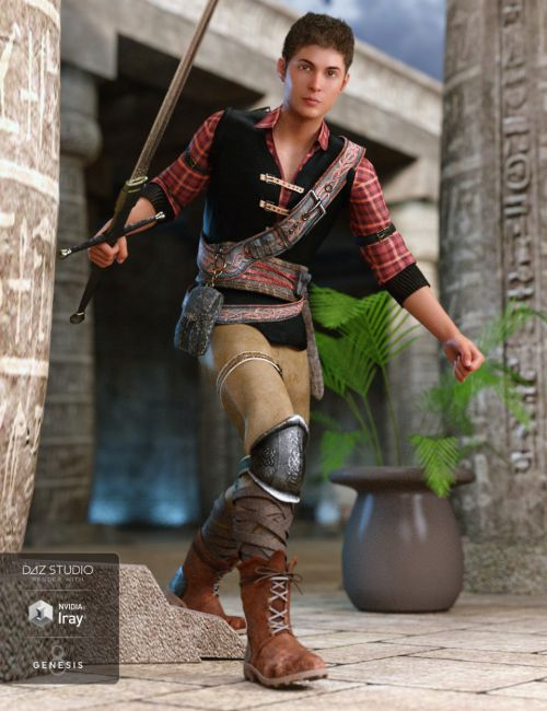 Time Rogue Outfit for Genesis 8 Male(s)