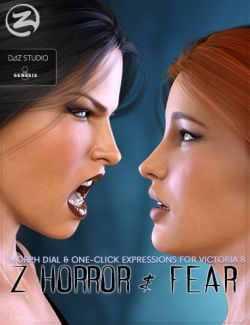 Z Horror and Fear- Morph Dial and One-Click Expressions for Victoria 8