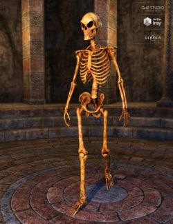 Midnight Skeleton for Genesis 8 Male
