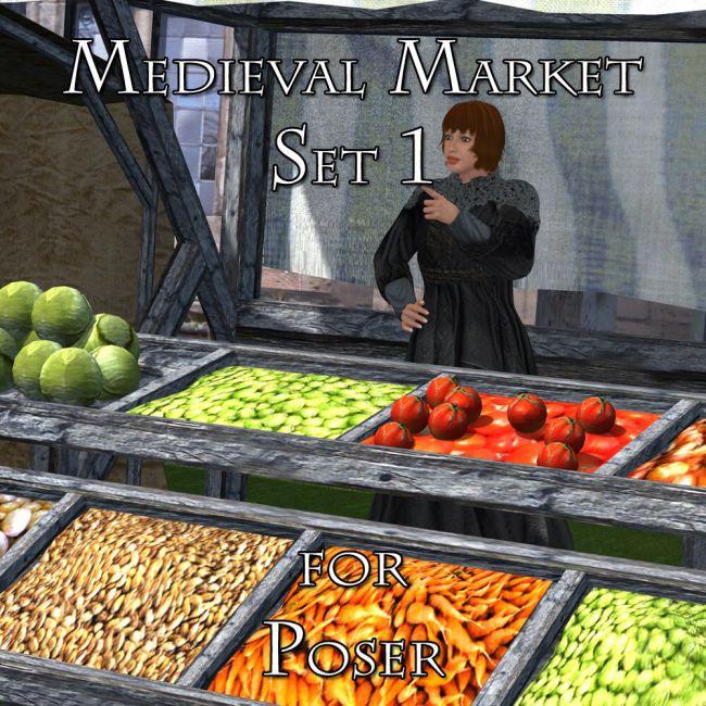 Medieval Market 1 - for Poser