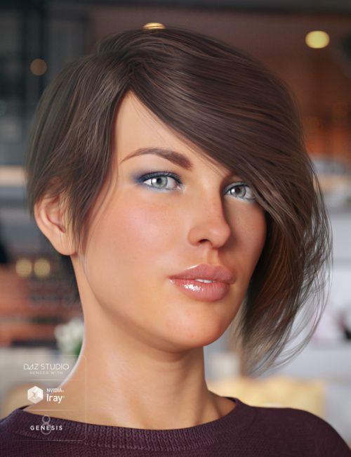 Evony Hair for Genesis 8 Female(s)