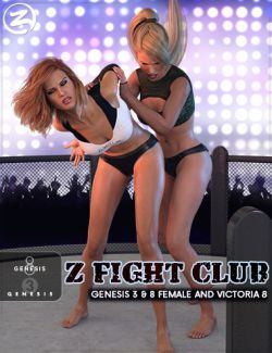 Z Fight Club - Couple Poses for Genesis 3 & 8 Female