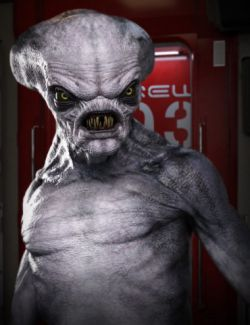 Crypto Alien HD for Genesis 8 Male