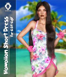 JMR Hawaiian Short Dress for G3F and G8F