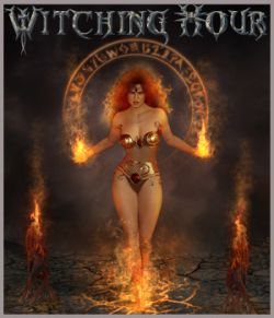 Witching Hour - Backgrounds and poses - G3F-G8F-V8