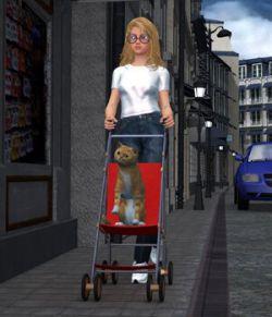 Stroller 1- for Poser