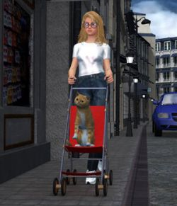 Stroller 1 (for DAZ Studio)