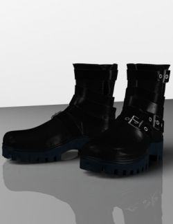 Leather Boots for Genesis 2, 3 and 8 Female(s)
