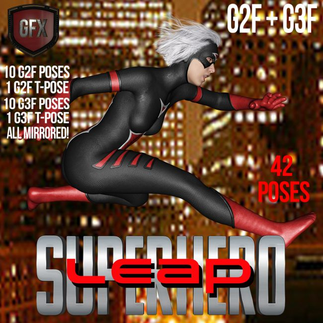 SuperHero Leap for G2F and G3F Volume 1