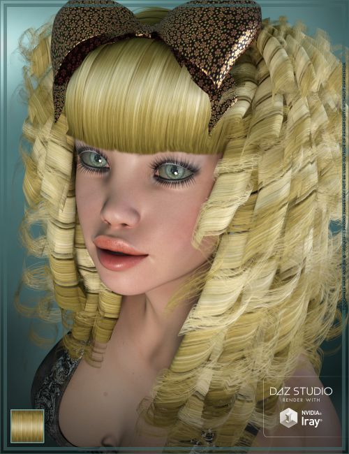 Touchable Goldie Locks Hair For Poser And Daz Studio