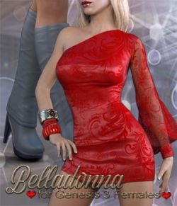 Belladonna Outfit for Genesis 3 Females