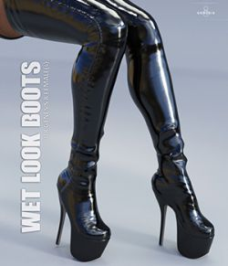 Wet Look Boots for Genesis 8 Females