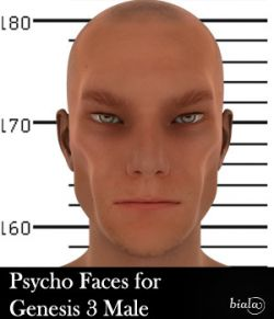 Psycho Faces for Genesis 3 Male