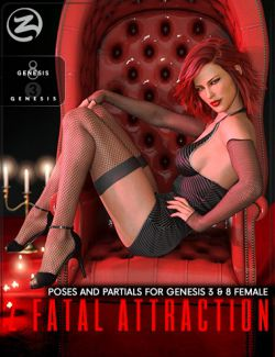 Z Fatal Attraction- Poses and Partials for Genesis 3 and 8 Female