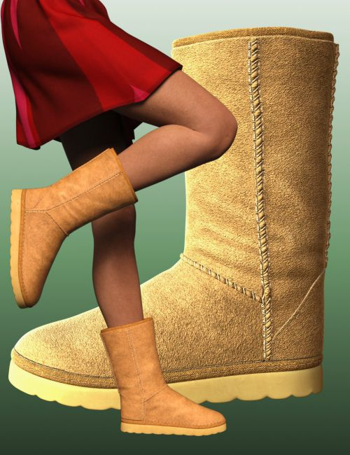 Winter Boots for Genesis 8 Female(s)