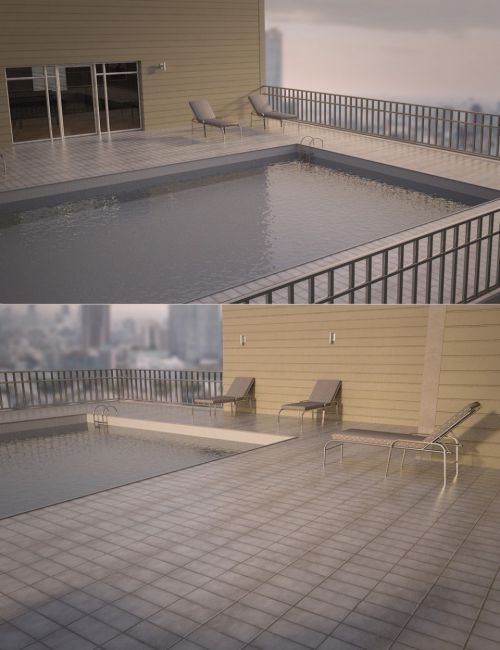 Apartment Patio with Pool