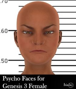 Psycho Faces for Genesis 3 Female