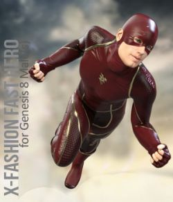 X-Fashion Fast Hero Outfit for Genesis 8 Males