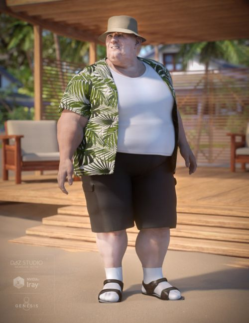 Summer Vacation Outfit for Genesis 8 Male(s)